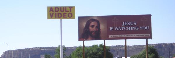 Jesus is watching you 600x200